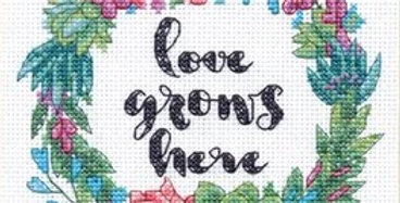 Succulent Wreath | Counted Cross Stitch | DIMENSIONS