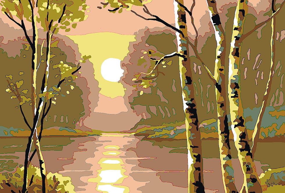 PT34 - Landscape | Printed Needlepoint