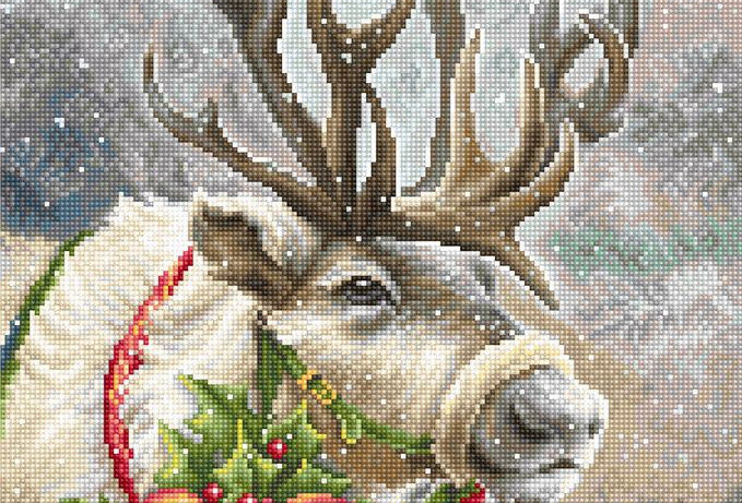 B598 Christmas Deer - Cross Stitch Kit Luca-S