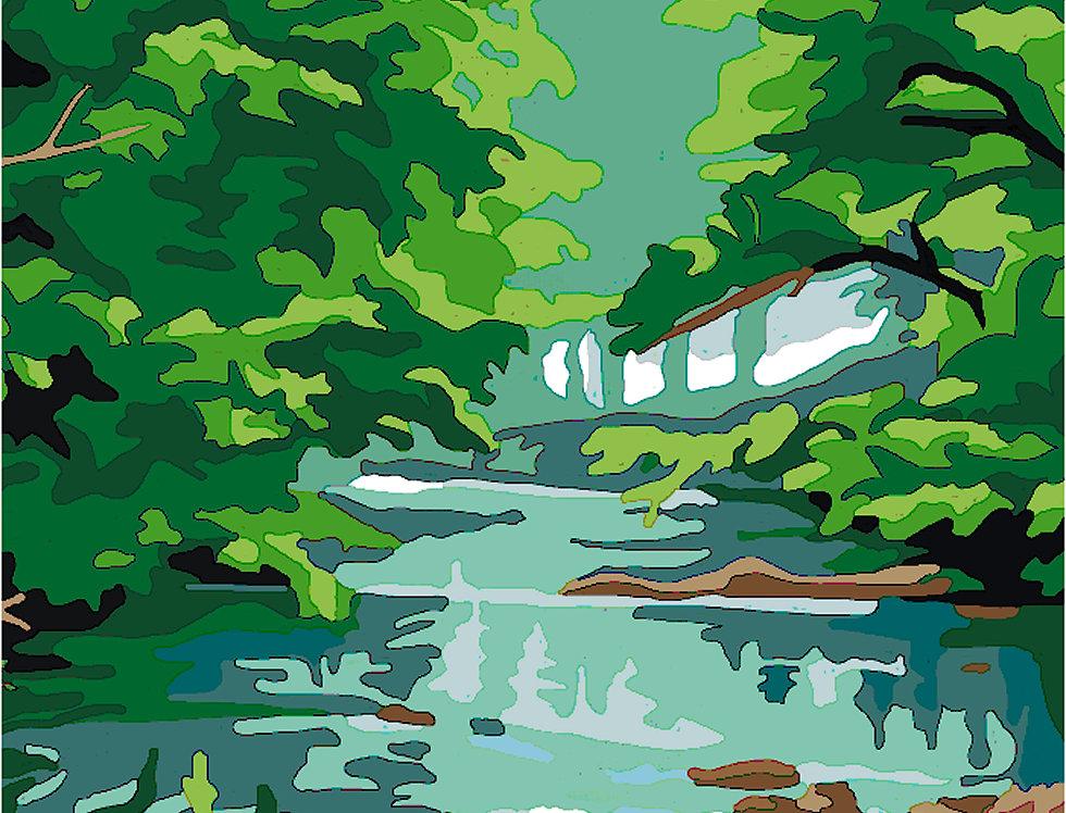 PC22 - Landscape | Printed Cross Stitch