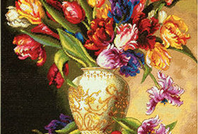 Parrot Tulips | Counted Cross Stitch | DIMENSIONS