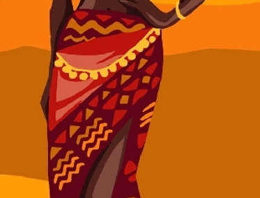 Royal Paris - African Beauty Tapestry Canvas