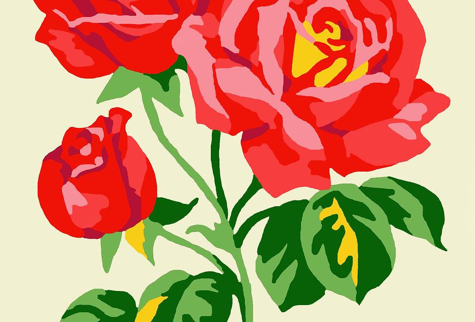 PC03 - Flowers | Printed Cross Stitch