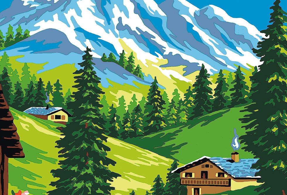 PT24 - Landscape | Printed Needlepoint