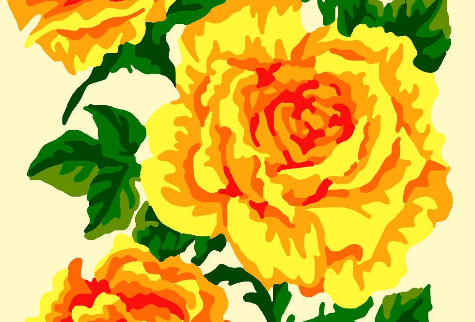 PC28 - Flowers   Printed Cross Stitch