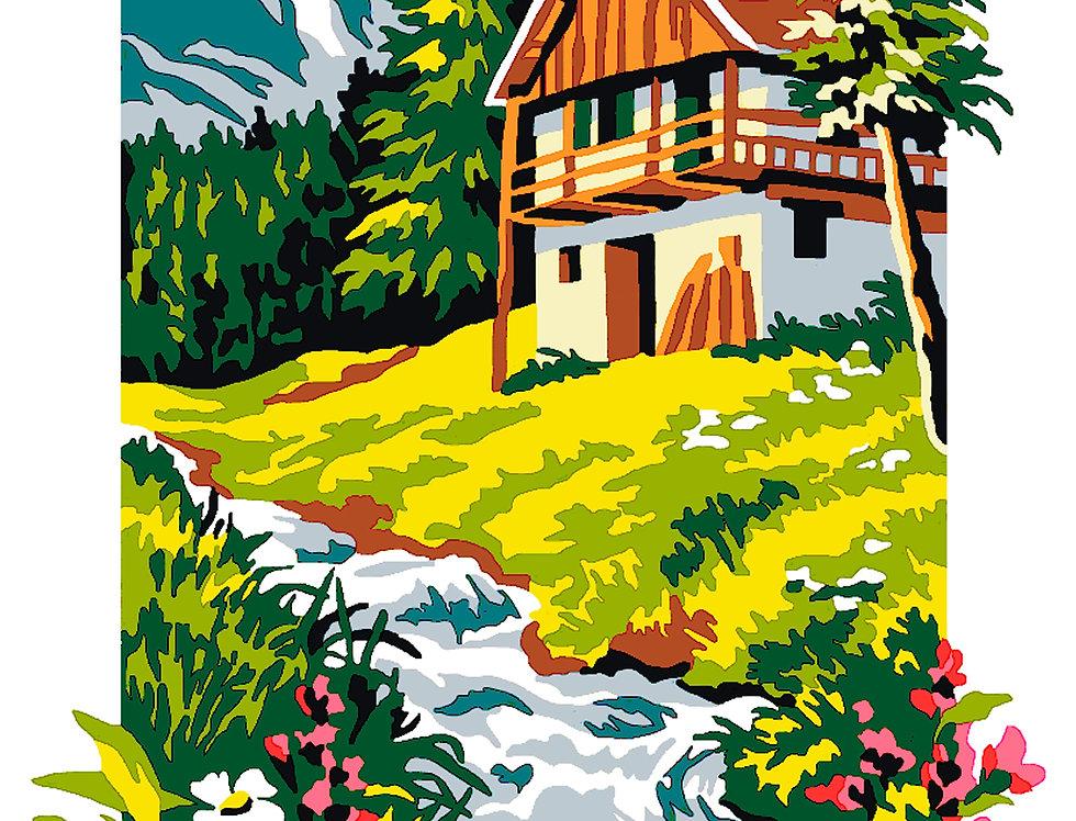 PT61 - Landscape | Printed Needlepoint