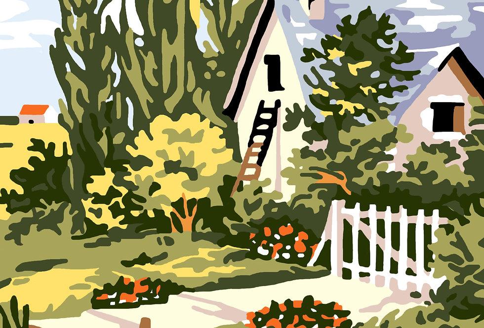 PC77 - Landscape   Printed Cross Stitch