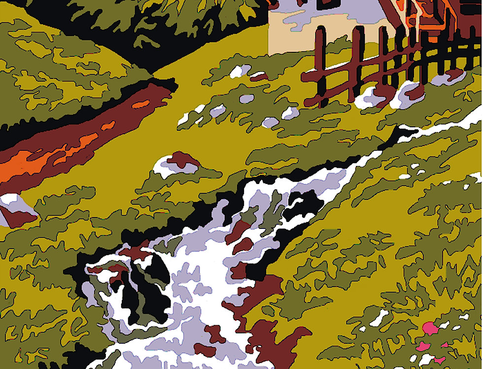 PT21 - Landscape   Printed Needlepoint