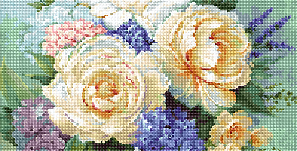 G600 Floral Bouquet - NeedlePoint Kit Luca-S
