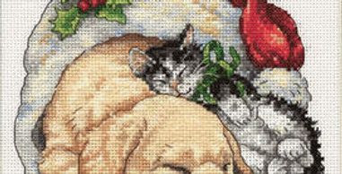 Christmas Morning Pets | Counted Cross Stitch | DIMENSIONS