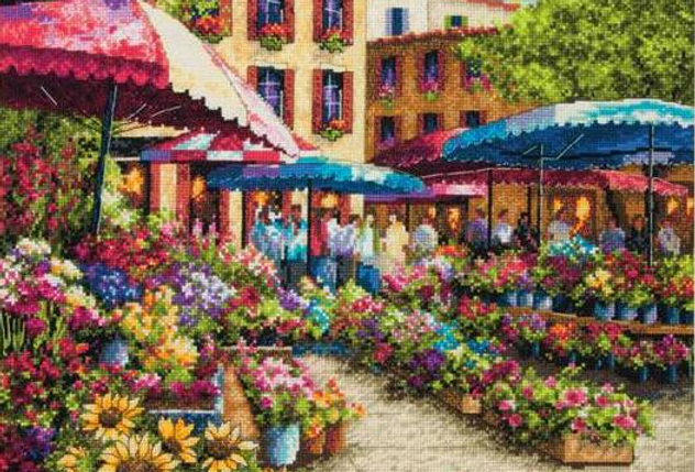 Provence Market | Counted Cross Stitch | DIMENSIONS