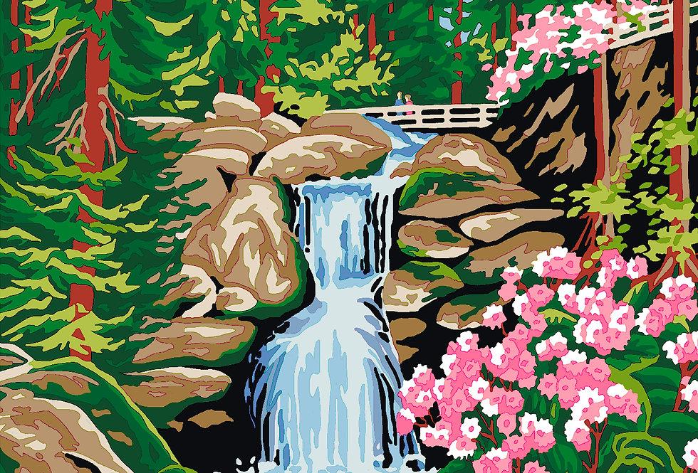 PT27 - Landscape   Printed Needlepoint