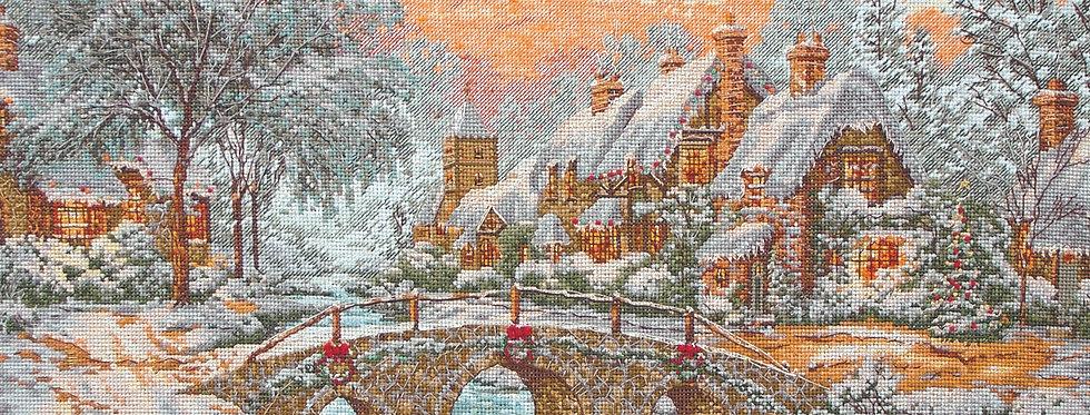 Maia Cross Stitch Kit - Cobblestone Christmas