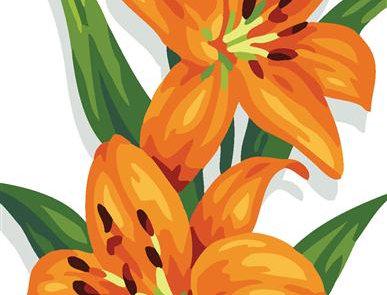 Royal Paris - Orange Lilies Tapestry Canvas