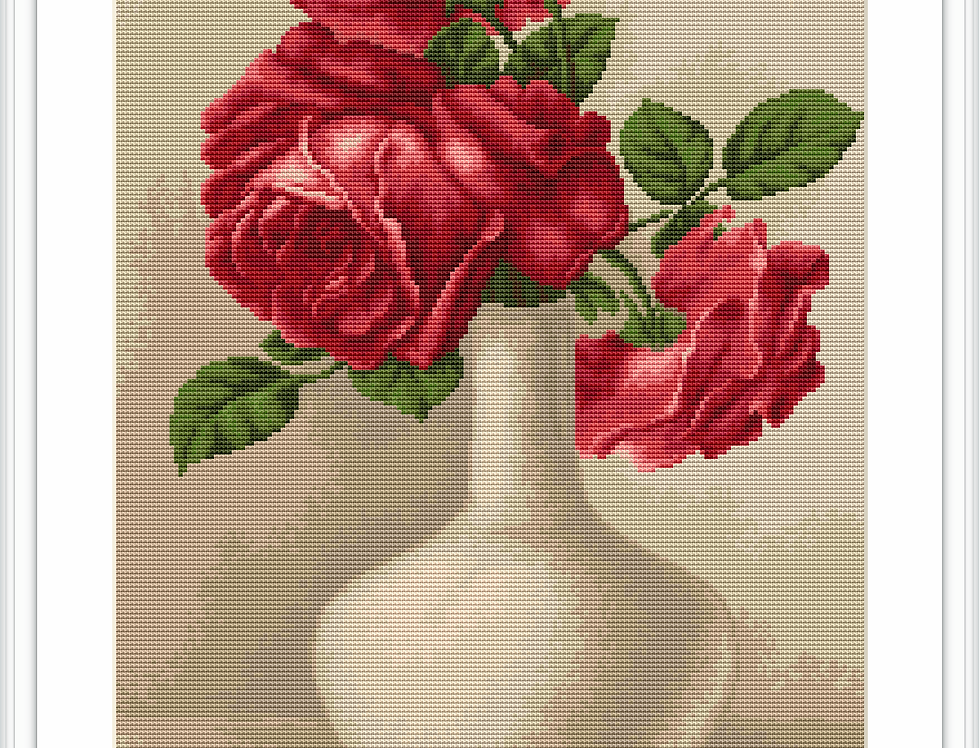 506 Roses - Cross Stitch Pattern