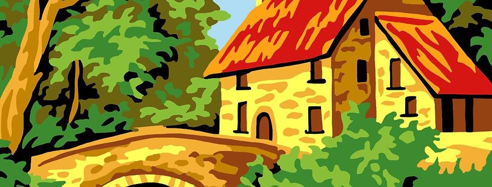 PC41 - Landscape   Printed Cross Stitch