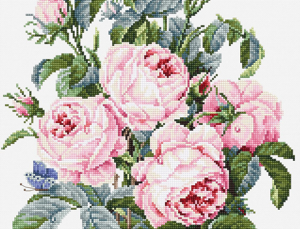 B2373 Bouquet of roses - Cross Stitch Kit Luca-S