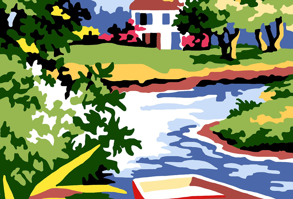 PT88 -  Landscape | Printed Needlepoint