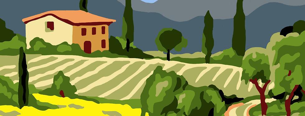 PT46 - Landscape | Printed Needlepoint