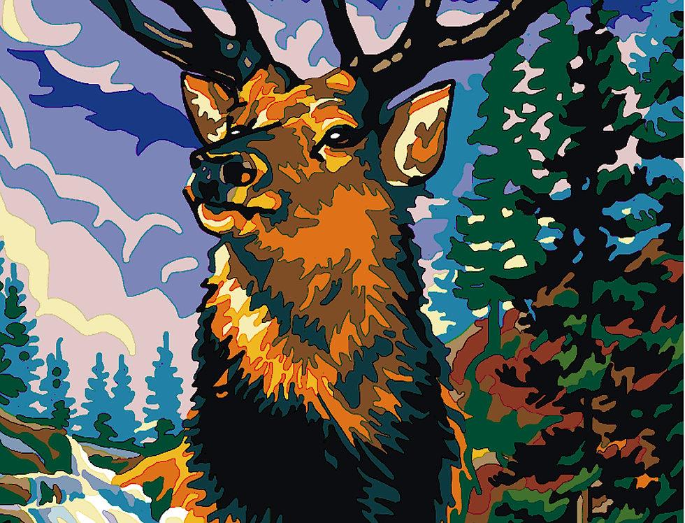 PC49 - Deer   Printed Cross Stitch