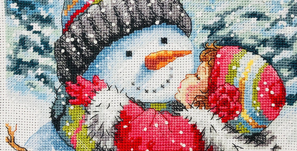 A Kiss for Snowman | Counted Cross Stitch | DIMENSIONS