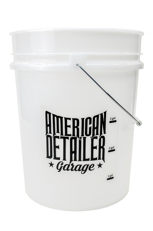 ADG 5 Gallon Bucket Clear with Gallon markers and Lid