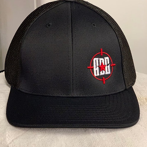 Red And Black Trucker Style Hat