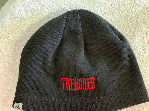 Beanie Black with Red ADG and trenches logo