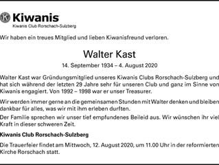 Wir trauern um Walter Kast
