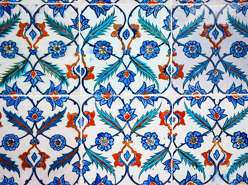Pluma y flor Azulejos