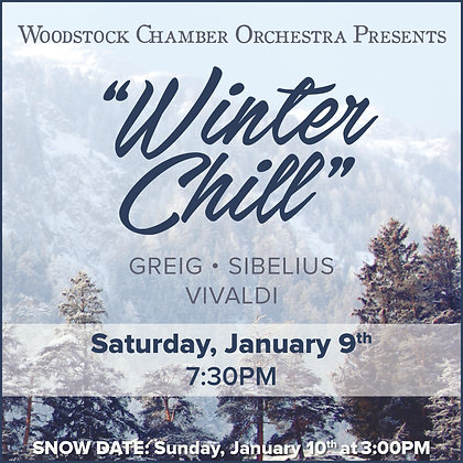 $20 Adult Ticket +$3 WCO Concert Jan. 9th 7:30pm