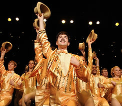 A Chorus Line onstage at the Iconic Woodstock Playhouse; Kyle Van Zandt