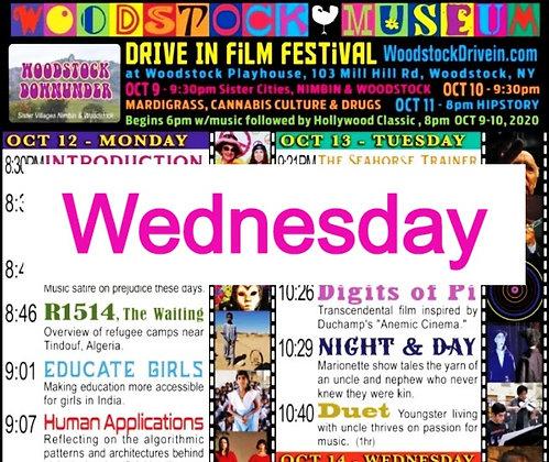 $10 Woodstock Drive-In Ticket +$1 WMFF Oct. 14 Wednesday