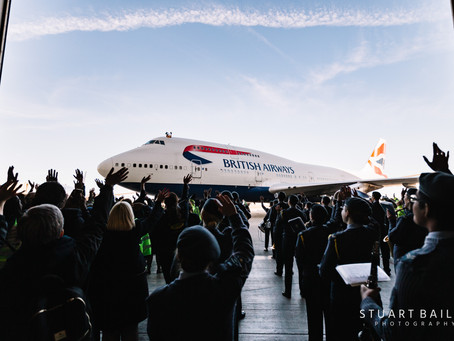 A Final Farewell to the British Airways Boeing 747!