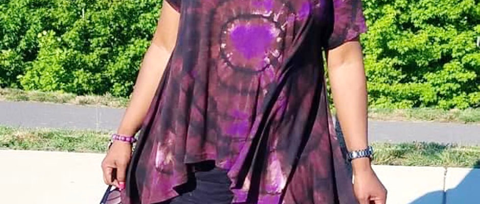 High-Low Dyed Top