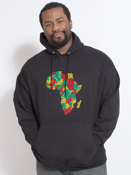 Africa Embroidered Hoodie
