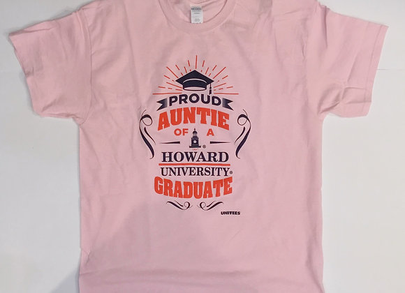 Proud Auntie of A Howard Graduate Tshirt