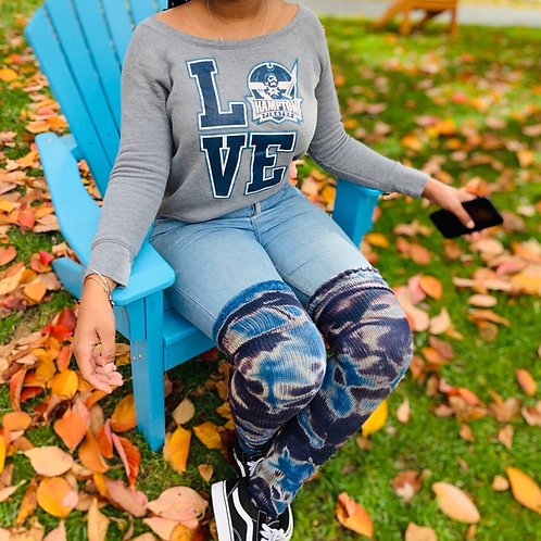 Thigh High Socks - Hampton Blue