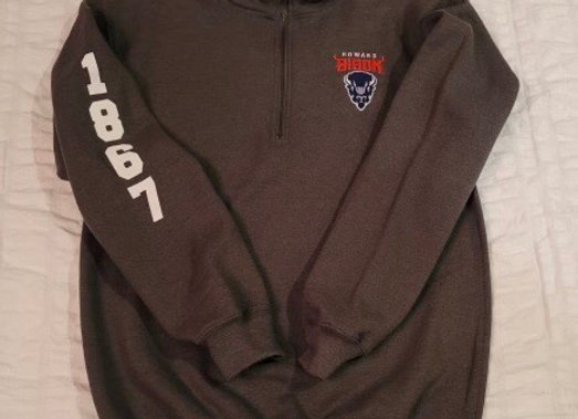 1/4 Zip Embroidered Sweatshirt