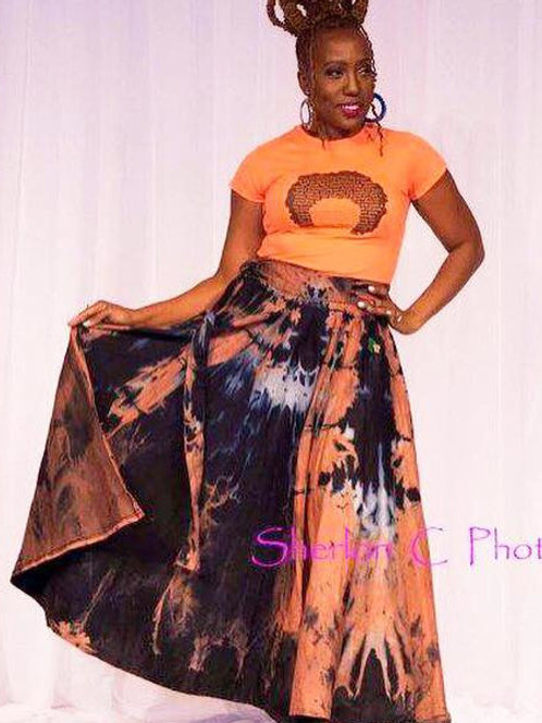 Wrap Skirt (Reverse Dyed Denim)