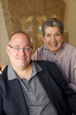 Sam Lieberman and Rabbi Mintz