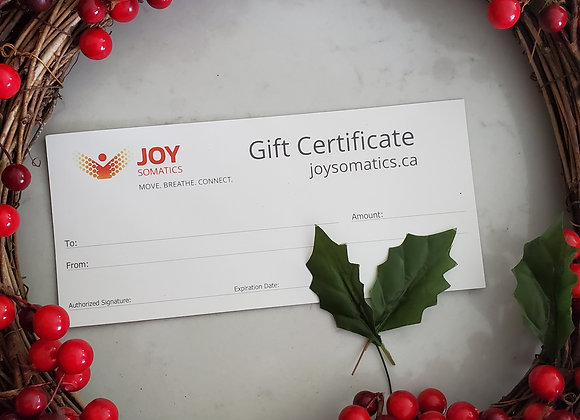 Gift Certificate -75 min In-person Movement Session