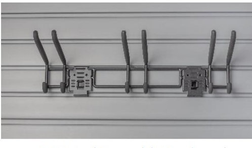 "24"" Tool Bar with Hooks and Looks"