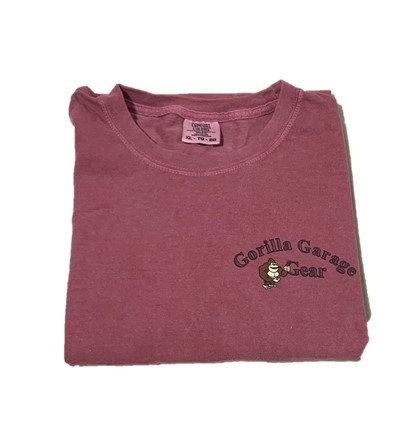 Gorilla Garage T-Shirt - Brick Red