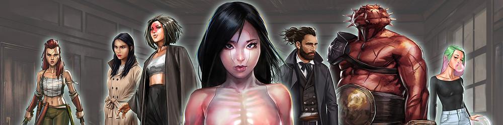 Character art for comics