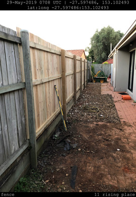Fence repairs - after
