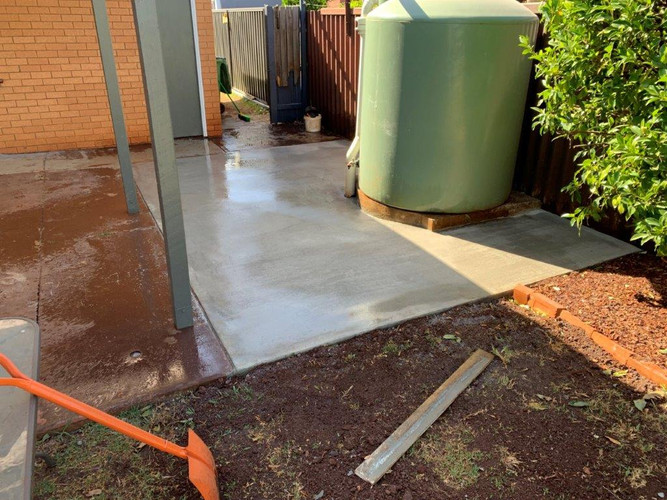 Concreting - after