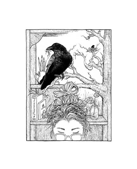 Raven & Girl- by Geo.Grphcs