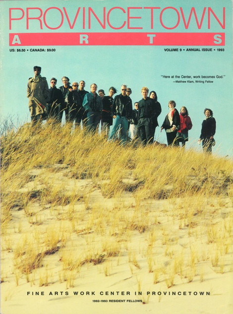 PROVINCETOWN ARTS 1993 (cover)