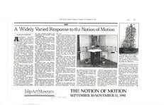 In this New York Times REVIEW from 1990, Ann Gillen's SOLAR POWERED FOUNTAIN is mentioned at the Islip Museum Museum, Long Island, NY